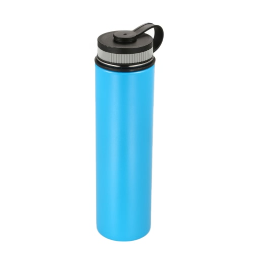 750ml / 26oz Al aire libre de doble pared de acero inoxidable de vacío aislados botella de agua frasco deportivo