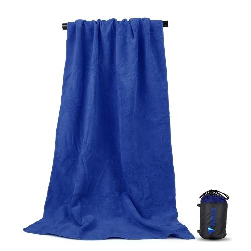 Waschbare Badetuch Microfaser Reisetasche Schnell trocknendes Handtuch Super saugfähiges Strandtuch für Outdoor Running Fitness Gaming Reinigung