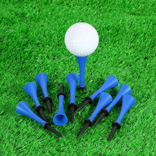 Tee da golf professionale da 10 pezzi Tee Step Up Tee Plastic Golf Horn Tee Evolution Tees Accessori per attrezzi sportivi da golf