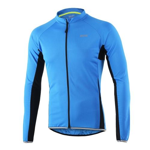 Arsuxeo Deportes al aire libre Ciclismo Jersey Bicicleta Bicicleta Full Zip camisa de manga larga MTB Bike Riding Ropa Jersey