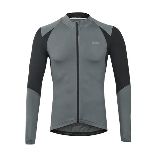Arsuxeo Outdoor Sport Ciclismo Uomo Jersey bicicletta Manica Lunga Slim Fit Compression MTB Abbigliamento Maglia Jersey