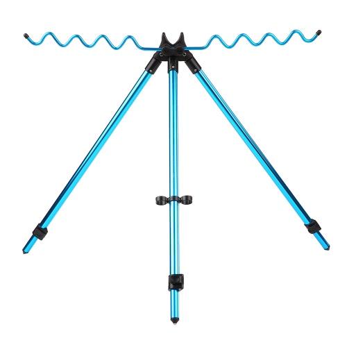 Portatili telescopici portatili regolabili per barche Supporto per treppiedi Sport esterno Sport in lega di alluminio perno di pesca Supporto staffa per pilastro per Sea Beach Shoreline
