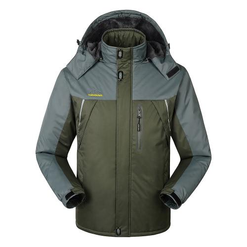 FH-1588 Мужская ветрозащитная флисовая зимняя спортивная куртка