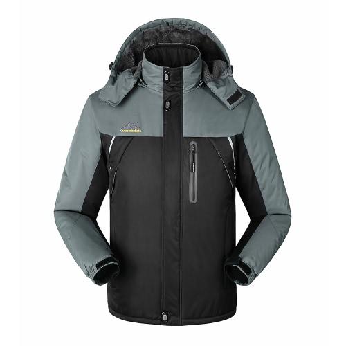 FH-1588 chaqueta impermeable al aire libre del deporte del invierno del paño grueso y suave de los hombres