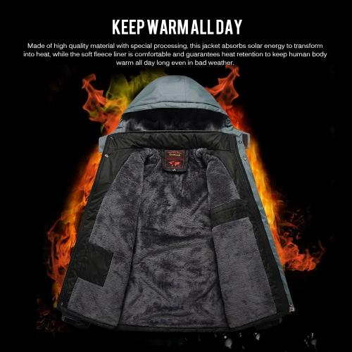 FH-1588 Men's Windproof Fleece Winter Outdoor Sport Jacket