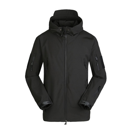 Männer Winddichte Fleece Jacke Winter Warme Mantel Outdoor Sport Mit Kapuze Ski Jacke Mantel