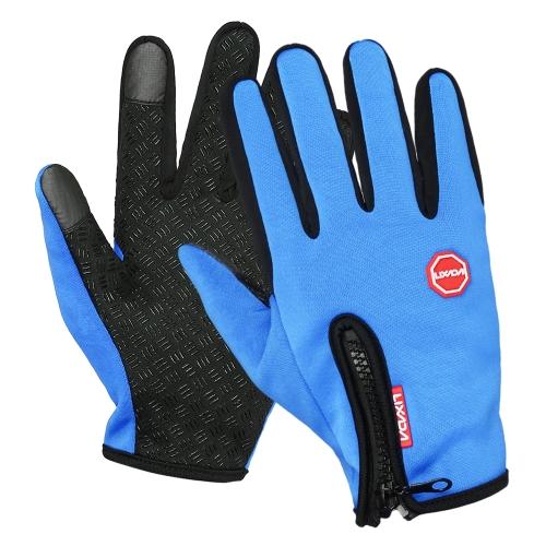Lixada Touchscreen Guanti da ciclismo Antivento invernali Sport all'aria aperta Guanti da ciclismo Scaldamani Sci Alpinismo Motociclismo