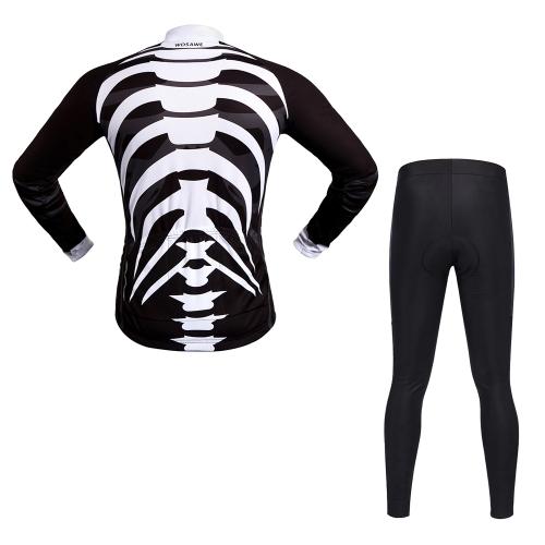 WOSAWE с длинным рукавом Велоспорт Джерси устанавливает Breathable 4D Мягкие штаны Спортивная одежда Горный велосипед Одежда для велоспорта фото