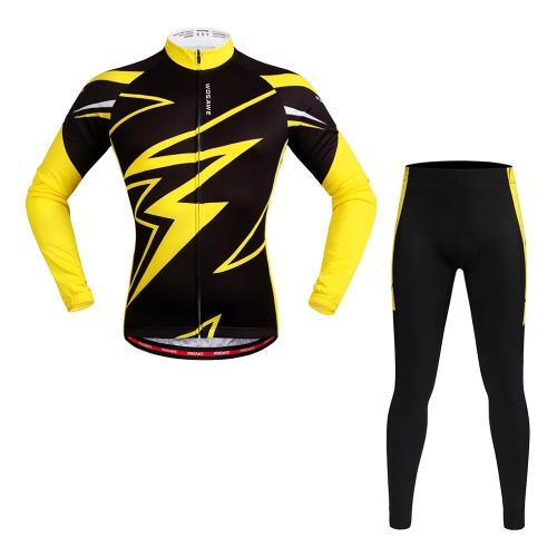 Maglia a manica lunga WOSAWE Jersey ciclismo Imposta pantaloni traspiranti 4D imbottiti Abbigliamento sportivo Abbigliamento ciclismo mountain bike Abbigliamento Abbigliamento ciclismo