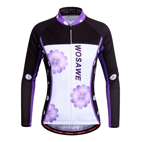 WOSAWE Women's Breathable Long Sleeve Cycling Jersey Shirt  MTB Bike Bicycle Cycling Clothing Apparel Sportswear
