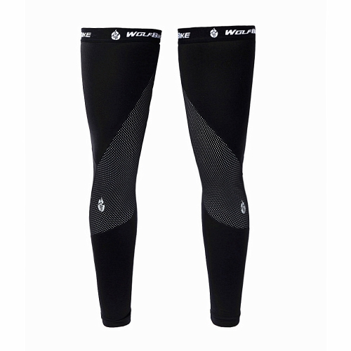 Unisex Windproof Thermal Fleece Велосипедные ножные грелки Компрессионные рукава Зимний спорт на открытом воздухе Горный велосипед Велосипедные поножи