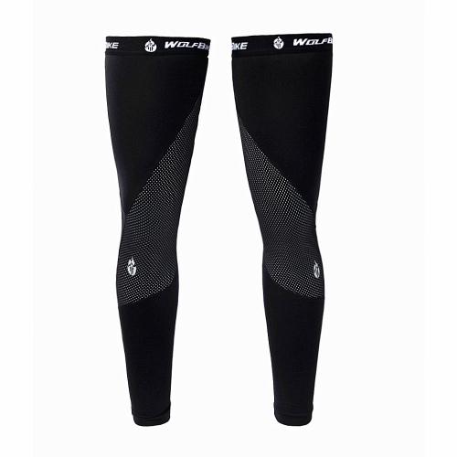 Unisex Windproof Thermal Pile Cycling Leg Warmers Manicotti di compressione Inverno Sport all'aria aperta Mountain Road Bike Bicicletta Leggings