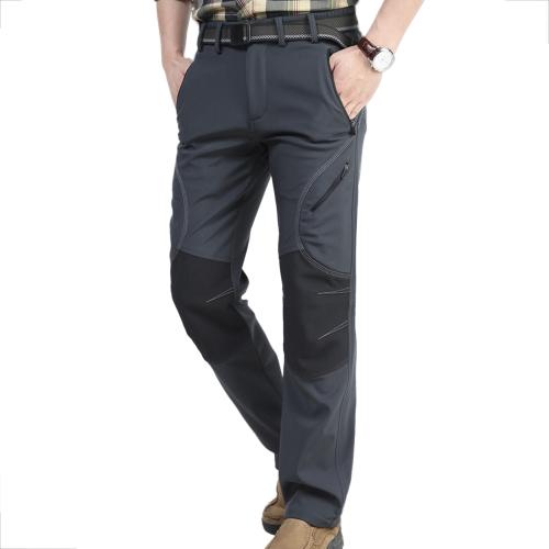 Pantaloni rivestiti in poliuretano antivento idrorepellente per uomo Pantaloni sportivi all'aperto Campeggio da escursionismo Pantaloni da montagna 5 tasche con zip