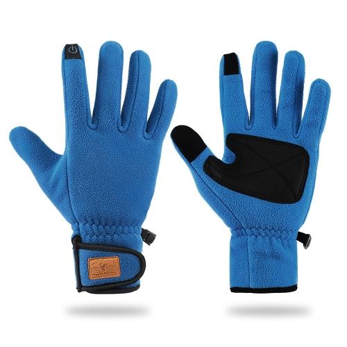 Deportes al aire libre de invierno cálidos guantes de lana térmica guantes de pantalla táctil para hombres y mujeres