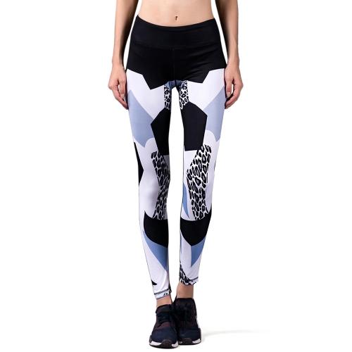 Pantaloni stampati Yoga compressione donna Active Leggings allungare Calzamaglia