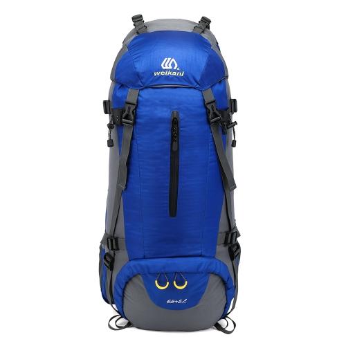 65 + 5L Outdoor Sport Escursionismo Trekking Campeggio Zaino da viaggio Zaino da arrampicata alpinismo Daypack con coperchio di pioggia