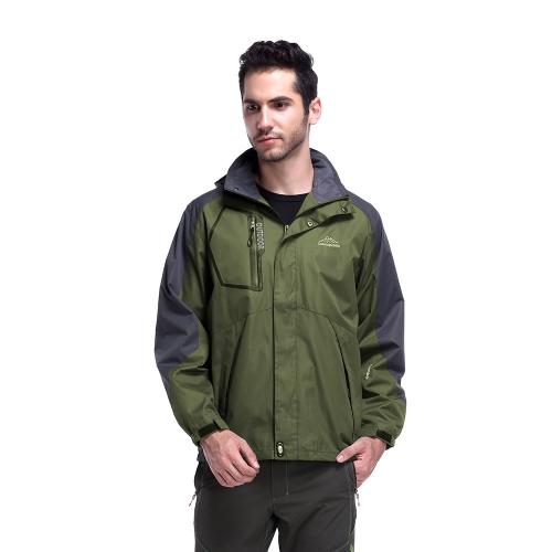 Maglia leggera impermeabile maschile con cappuccio impermeabile impermeabile Primavera Autunno Sport Campeggio Trekking Mountain Climbing Jackets