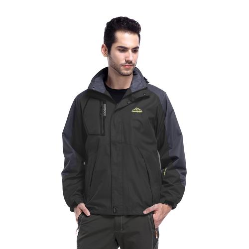 Мужские с капюшоном Открытый Легкий водонепроницаемый ветрозащитный Пальто Весна Осень Спорт Кемпинг Треккинг Альпинизм Куртки