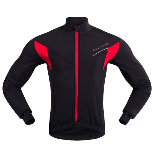 Herren Langarm Radtrikot Winter Outdoor Sports Winddicht MTB Fahrrad Mantel Jacke