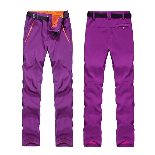 Pantaloni invernali in pile da donna Outdoor Pantaloni da neve impermeabili antivento impermeabili Pantaloni da sci Pesca Camping Trekking Alpinismo