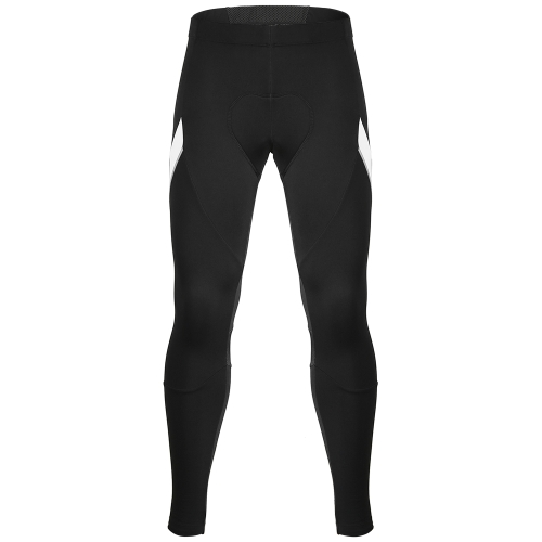 Santic Men's Outdoor Cycling Pants Winter Thermal Breathable Comfortable Trousers with Padded Cushion Riding Sportswear