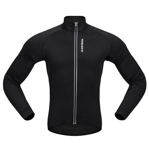 Wosawe männer radjacke winddicht warme fleece winter mtb fahrrad reiten jersey outdoor sport mantel