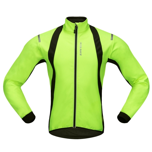 WOSAWE Casaco de ciclismo para homens Windproof Warm Fleece Winter MTB Bike Bicycle Riding Jersey Outdoor Sport Coat