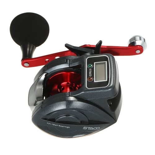 Carrete Linecounter Low Profile 6.3: 1 13 + 1 Carrete Baitcasting Bait Casting Reel Baitcast Fishing Carrete Tackle with Display Digital