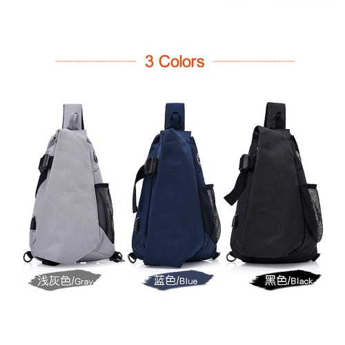 0cbea6f55b Lixada Men Chest Bags Casual Chest Pack Anti Theft Sling Crossbody Bags  Messenger Bag Shoulder Bag
