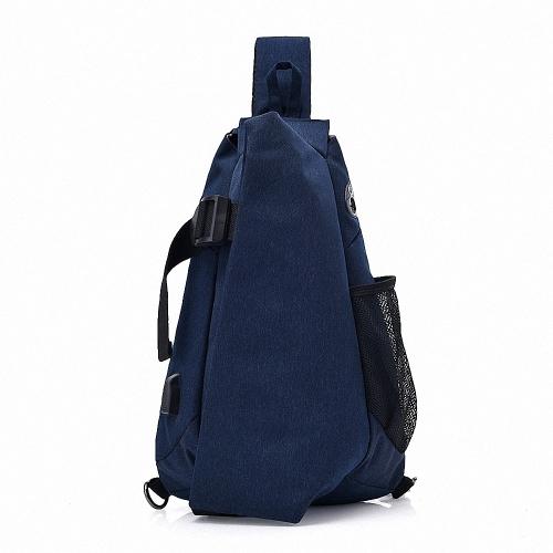 Lixada Men Chest Bags Pacote casual de peito