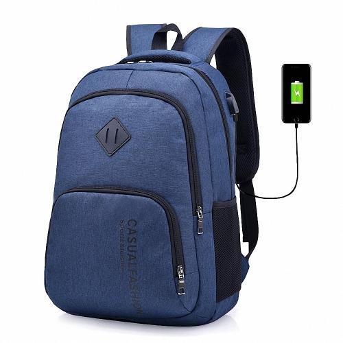 Mochila para laptop para homens Lixada com porta de carga USB