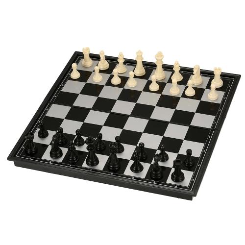 Faltbare Kunststoff Schachspiel International Chess Entertainment Spiel Schachspiel Klappbrett Pädagogisches Schach Magnetisches Schach
