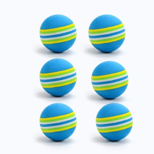 6PCS Palline da golf professionali Arcobaleno colorato per bambini Allenamento per principianti Pallina da golf Pratica palla Attrezzatura da golf Club Palla da golf EVA