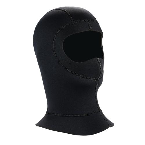 5mm Neopren-Berufsschützende warme Badekappen-Haube-volle Gesichtsmaske-Hauben-Kappen-Tauchens-Hut-Ausrüstung