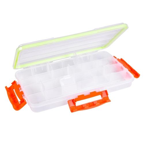 Ganci trasparenti trasparenti della pesca di esca di pesca della scatola visibile di esca attrezzatura del contenitore della scatola di stoccaggio accessorio