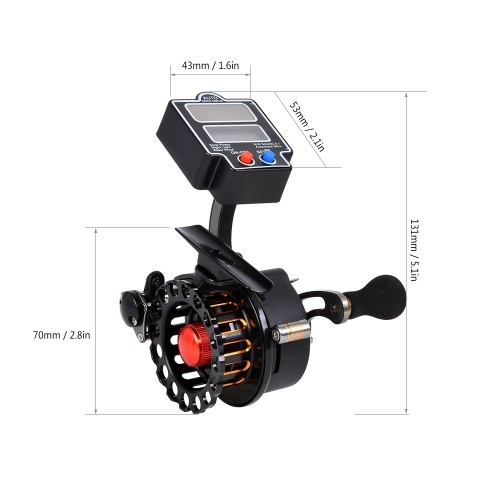 4+1 Ball Bearings 3.5:1 Gear Ratio Raft Fishing Reel Right / Left Hand Fly Fishing Reel Ice Reel thumbnail