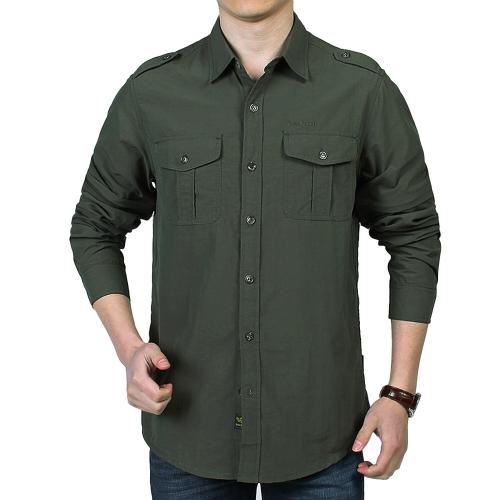 Мужская наружная рубашка для быстрой сушки с съемной рубашкой для летнего отдыха с длинным рукавом