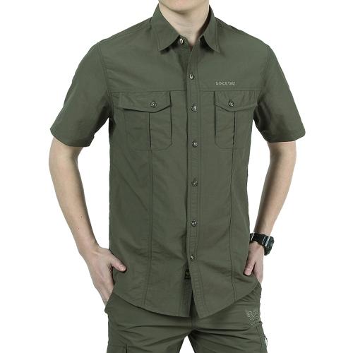 Мужская рубашка с короткими рукавами для мужчин с длинным рукавом Наружная рыбалка Альпинизм Кемпинг Летняя повседневная рубашка