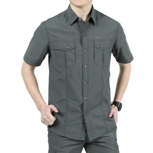 Camicia a maniche corte asciugatura rapida da uomo Camicia casual estiva da campeggio per alpinismo da alpinismo
