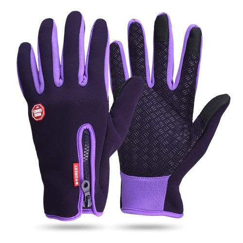 Guanti e guanti invernali in pelle che guidano i guanti TouchScreen
