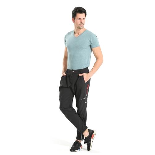 Pantalones largos de los deportes de la bicicleta de los hombres Pantalones largos de ciclo de la ropa deportiva multifuncional Pantalones largos de ciclo de secado rápido transpirable