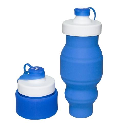 530ml pieghevole bottiglia di acqua in silicone 18OZ pieghevole tazza portatile pieghevole bollitore riutilizzabile e isolato per bevande calde e fredde per gli sport all'aria aperta viaggi trekking campeggio e in bicicletta (verde)