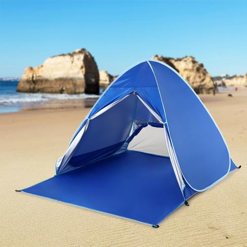 Image of Lixada Automatische Instant Pop Up Strand Zelt Leichte UV Schutz Sun Shelter Zelt Cabana