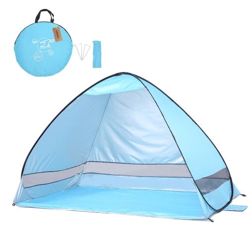 Lixada Instant Pop Up Tenda da spiaggia Protezione UV leggera Protezione solare da tetto Tenda da sole