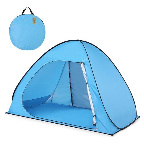 Lixada Automatic Pop Up Beach Tent Sun Shelter Cabana para 2-3 pessoas UPF50 + Proteção UV Beach Shade