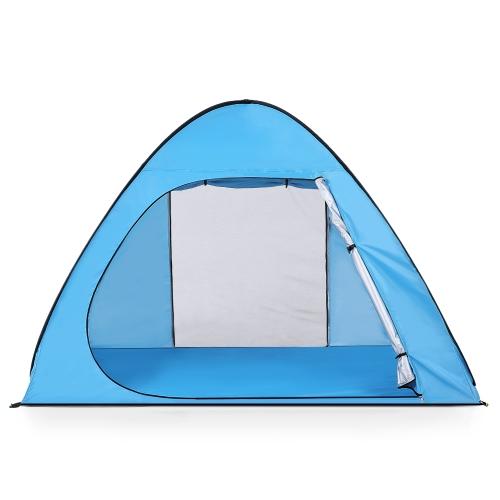 Lixada Automatic Pop Up Beach Палатка Sun Shelter Cabana для 2-3 человек UPF50 + защита от ультрафиолетового излучения фото