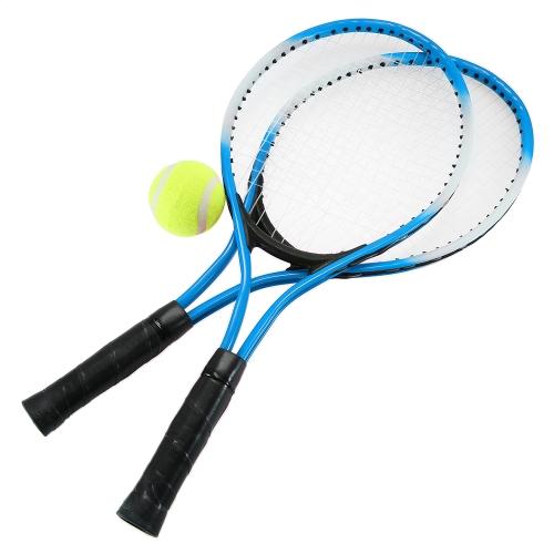 2Pcs Теннисные ракетки для теннисных ракет с теннисным тентом с 1 теннисной мячиком и сумкой для багажа
