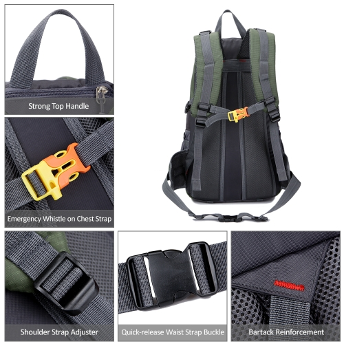 40L Water-resistant Hiking Camping Backpack