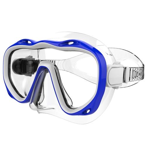 Подводная полная сухая дышащая трубка Очки для дайвинга Закаленная стеклянная маска Костюм для дайвинга Маска для подводного плавания фото