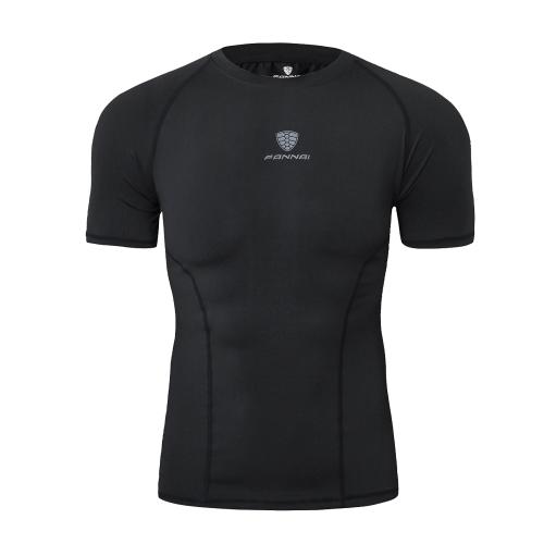 T-shirt da allenamento running da uomo T-shirt aderente alta elasticità rapida Camicia assorbente ad asciugatura rapida Abbigliamento sportivo fitness a compressione morbida